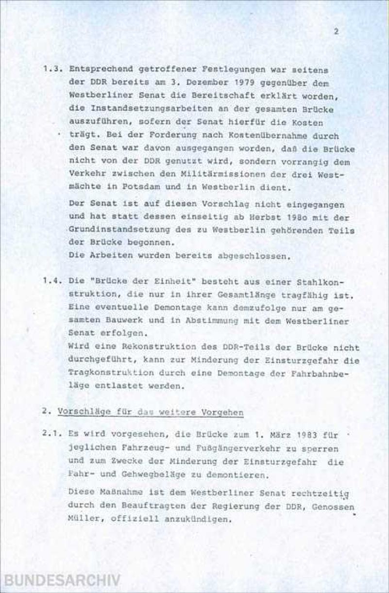 Bundesarchiv Internet - Eine Episode aus dem Kräftespiel zwischen ...